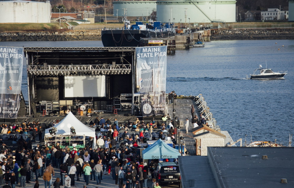 Waterfront Concerts, which put on 27 shows at the Maine State Pier this summer, wants to put a cover over the pier for future shows.