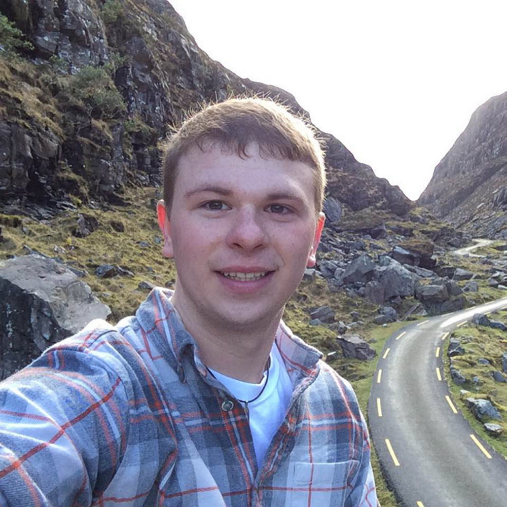 Christopher Hunt, a Southern Maine Community College student, has received a George J. Mitchell Peace Scholarship to study in Ireland.