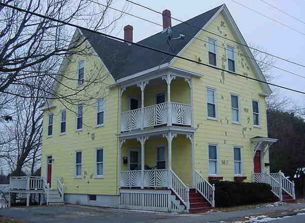 The apartment building at 158-160 Brackett St. in Westbrook was condemned for safety violations in June, leaving 23 people homeless. City of Westbrook photo