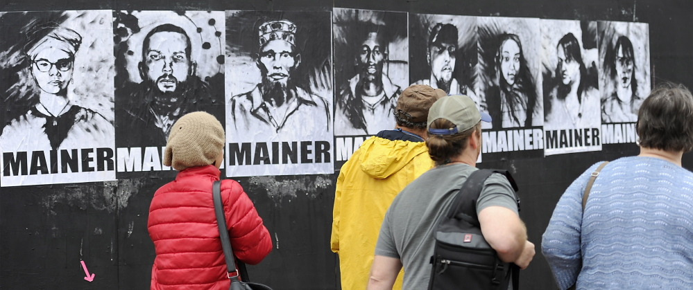 Portland city councilors voted last week to keep providing aid to asylum seekers. A street artist's portraits became part of the debate on the topic.