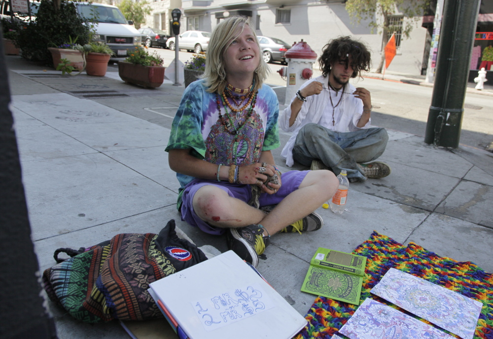 Research shows Maine is second to Vermont in hippie population.