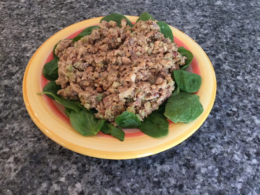 This chilled tempeh salad is easy to prepare and filled with flavor.