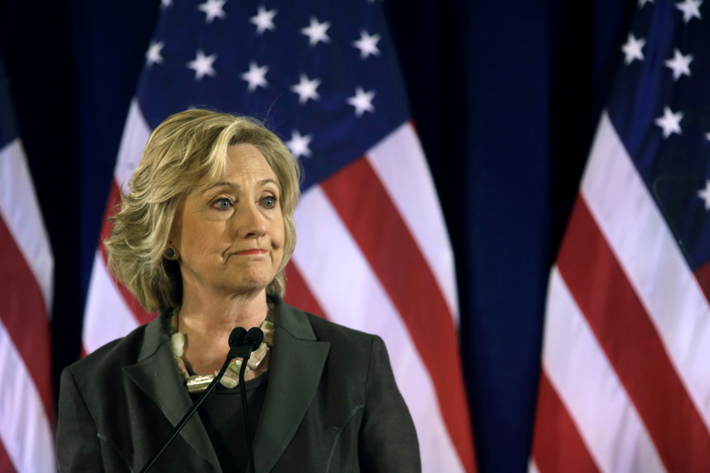 Democratic presidential hopeful Hillary Rodham Clinton speaks Friday, July 24, 2015, at the New York University Leonard N. Stern School of Business in New York. Clinton says businesses need to