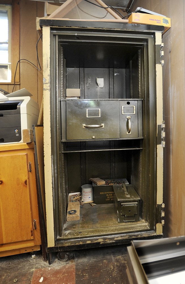 A thief or thieves used power tools to cut into the safe at American Legion Post 86 in Gray, then removed the door by taking out the hinge pins.