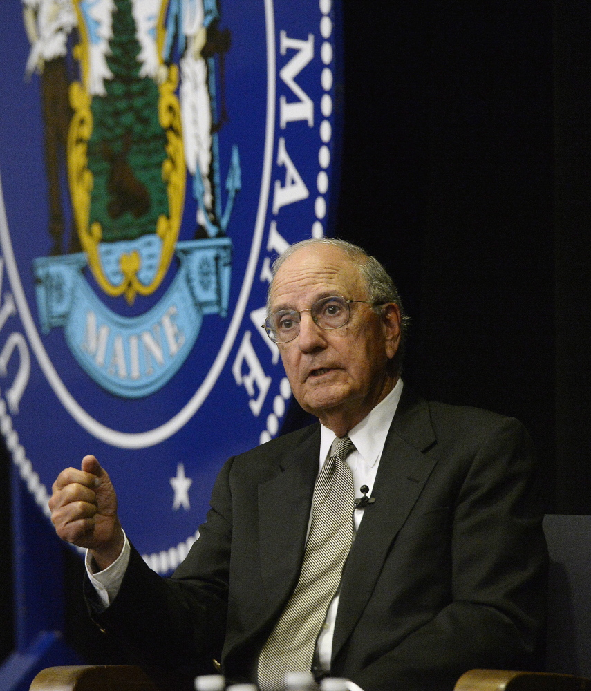 Former U.S. Sen. George Mitchell said the Iran nuclear deal provides a rigorous inspection program that will make obtaining a nuclear weapon more difficult.