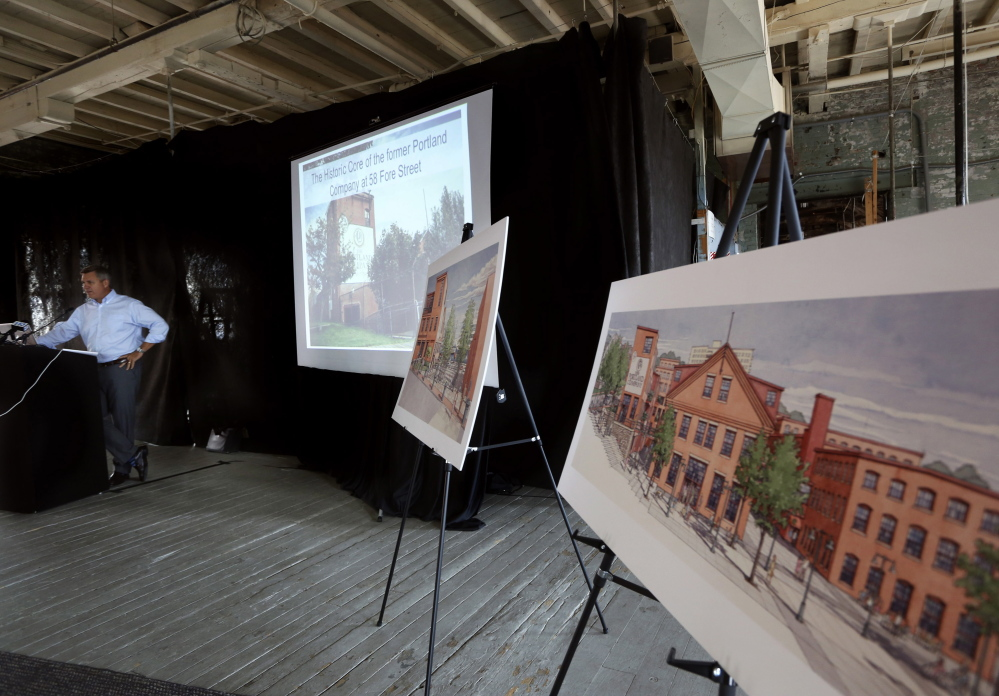 At a news conference Wednesday, developer Jim Brady noted the public access to the waterfront envisioned in the latest drawings.