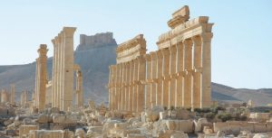 THE SITE OF THE ANCIENT CITY OF PALMYRA IN SYRIA is seen in this undated file image released by UNESCO. A satellite image on Aug. 31 shows that the main building of the ancient Temple of Bel in Palmyra has been destroyed, a United Nations agency said. Experts, conservators and local residents are scrambling to document Syria's millennia-long cultural heritage that has been damaged by the country's war since 2011, by battles against the Islamic State group and by its intentional destruction.
