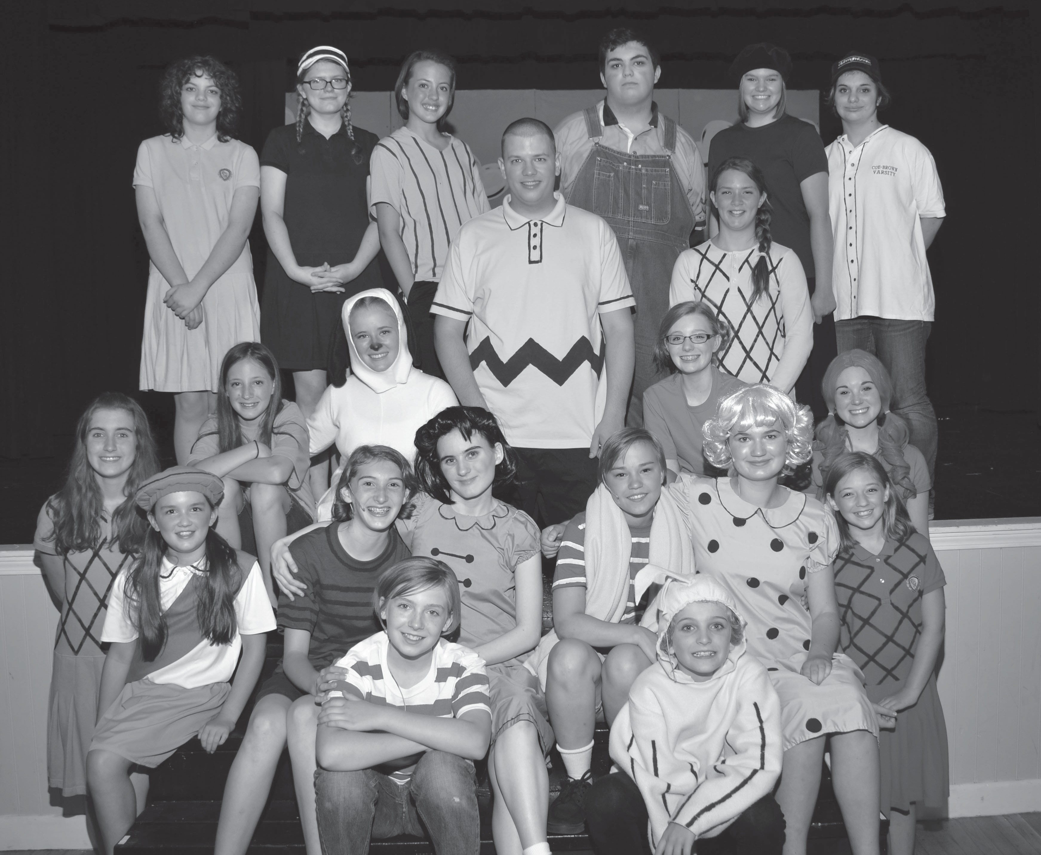 "Cast members of ""You're a Good Man, Charlie Brown."""