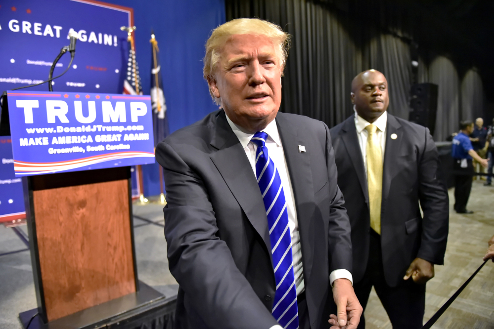 Republican presidential candidate Donald Trump has signed a pledge to back the party's nominee for president, but the document is not a legal contract or binding.