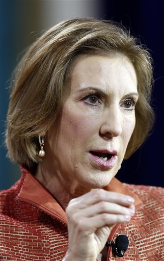 Republican Carly Fiorina dismissed Donald Trump's criticism of her appearance, saying that he's just reacting to her climb in the polls.