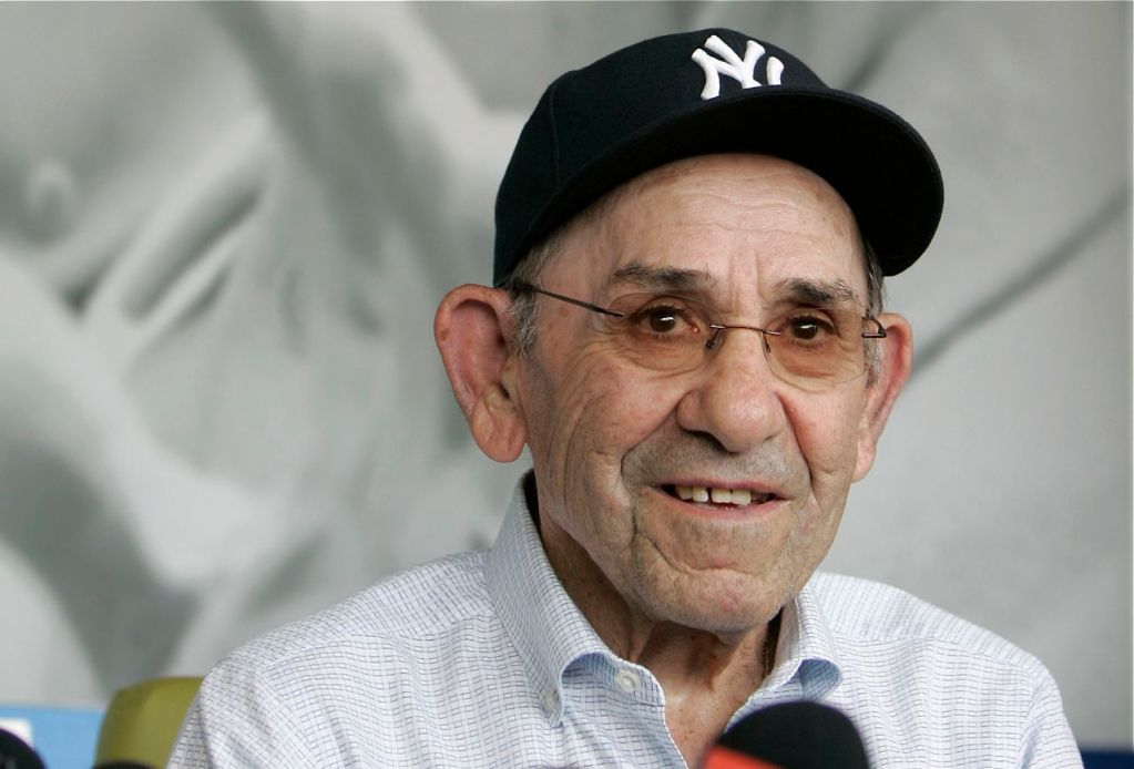 """Former New York Yankees great Yogi Berra in a 2010 photo. One of his most famous and repeated quotes:  """"It's deja vu all over again!"""""""