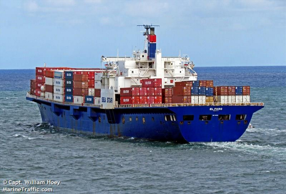 The El Faro sank in Hurricane Joaquin east of the Bahamas. The wreck is now 15,000 feet below the surface.