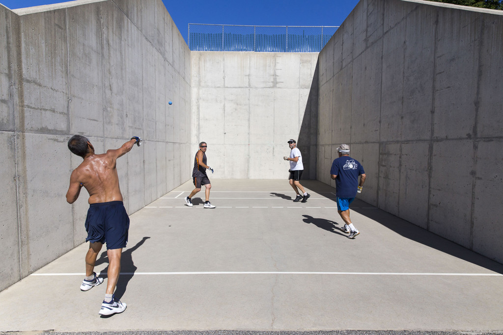 padded beach chair spa chairs for sale aging maine handball players determined to keep their sport alive - portland press herald