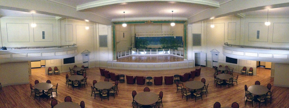 The auditorium in the Cony Flatiron Senior Residence in July.