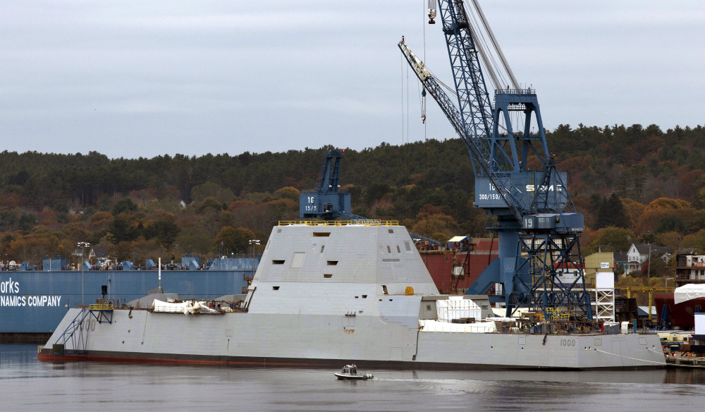 The Navy's stealthy Zumwalt destroyer, which was built at Bath Iron Works, has an unusual hull that fell out of favor a century ago in part because it can be unstable.