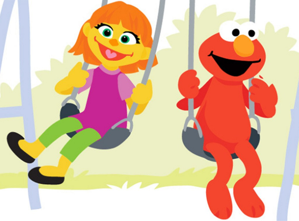 "The addition of Julia, here with Elmo, to the lineup of Muppet characters is part of a new initiative, ""Sesame Street and Autism: See Amazing in All Children."" Sesame Street photo The addition of Julia, here with Elmo, to the lineup of Muppet characters is part of a new initiative, ""Sesame Street and Autism: See Amazing in All Children."""