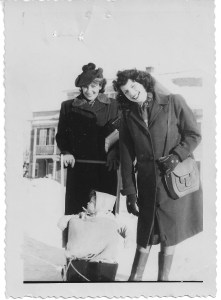 Judith Isaacson with her mother, Rose Magyar, who is pushing Isaacson's first child, John Isaacson.