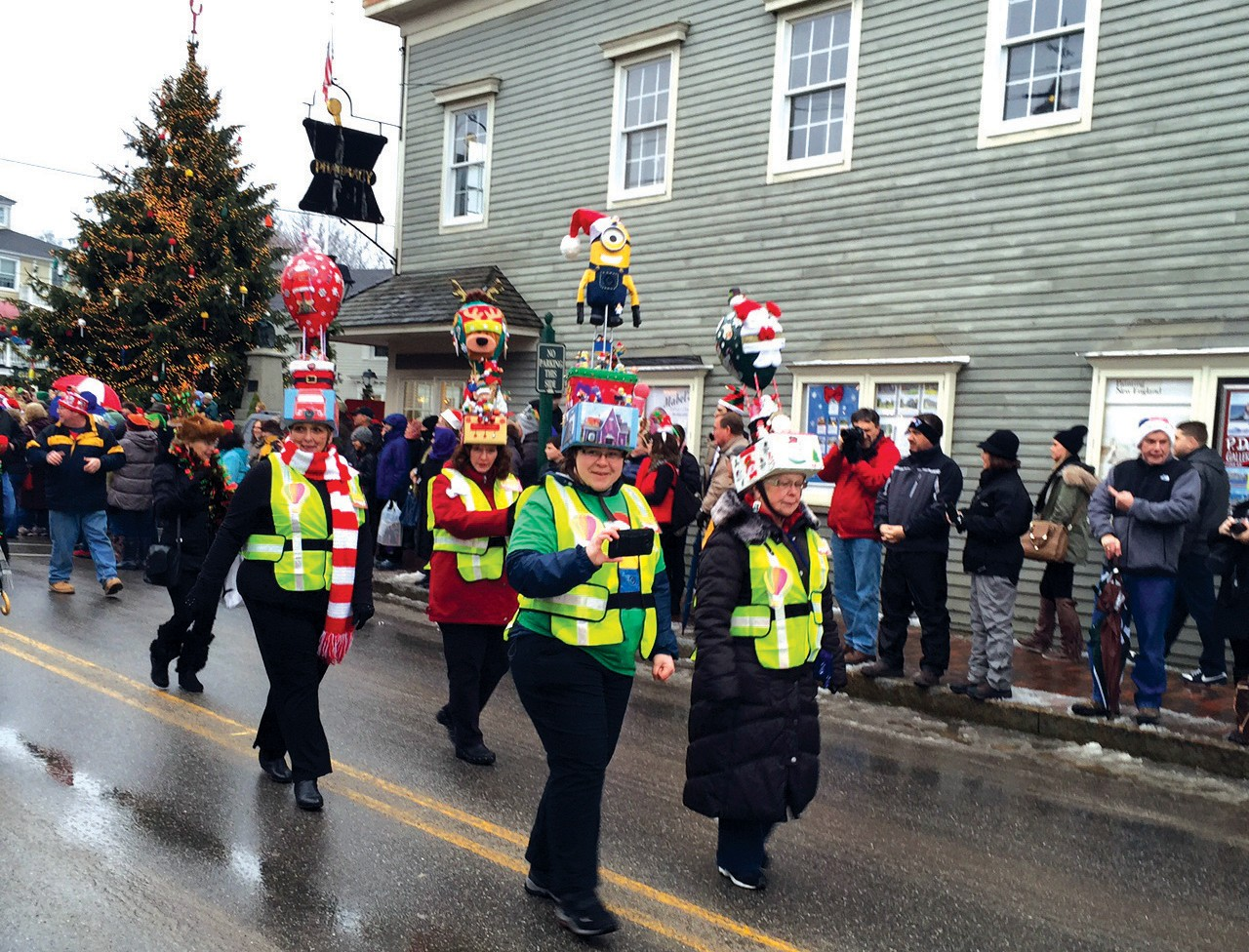 Participants of Kennebunkport's hat parade sport Christmasthemed hats in this Dec. 6, 2014 file photo. The parade is part of the town's annual Christmas Prelude festival. This year's parade will be this weekend.