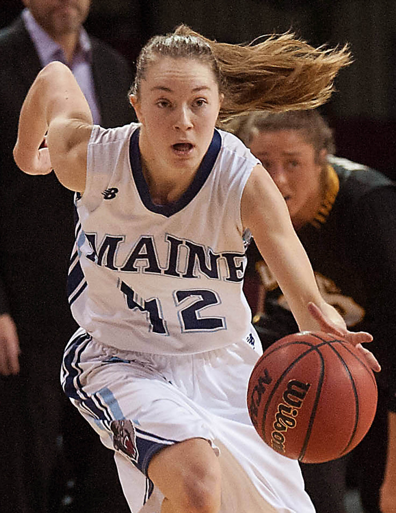 Sigi Koizar wasn't sure she wanted to play for the University of Maine after high school ball in Millinocket. Frankly, she wasn't sure she was good enough, that she wanted the pressure of playing so close to Millinocket. But she took the chance, and today? She's on course to be one of the program's best players.