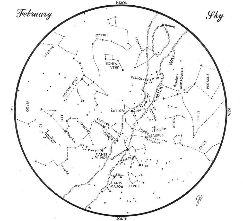 What's Up in February: Winter Circle a guide to night sky