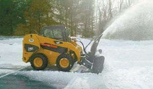 GOODALL LANDSCAPING of Topsham has been in Delaware since Monday helping clear predominantly Home Depot parking lots around the clock after a blizzard hit this part of the east coast. The crew expected to head to Maryland next.
