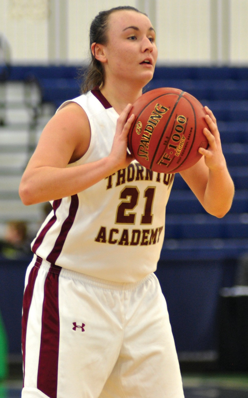 Thornton Academy's Isabella Robinson looks to pass in the third quarter Wednesday night.