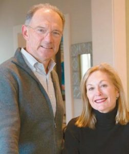 DAVID AND BARBARA ROUX provided a $10 million gift for a new building at Bowdoin College.