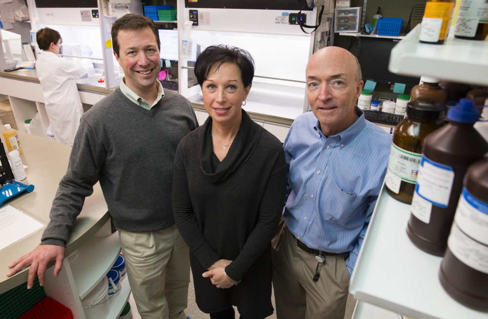 Apothecary by Design's retail pharmacy will soon be owned by, from left, pharmacist Stephen Drapeau, Cassi Brooks, now the operations manager, and Joe Lorello, a compounding pharmacist and apothecary co-founder.