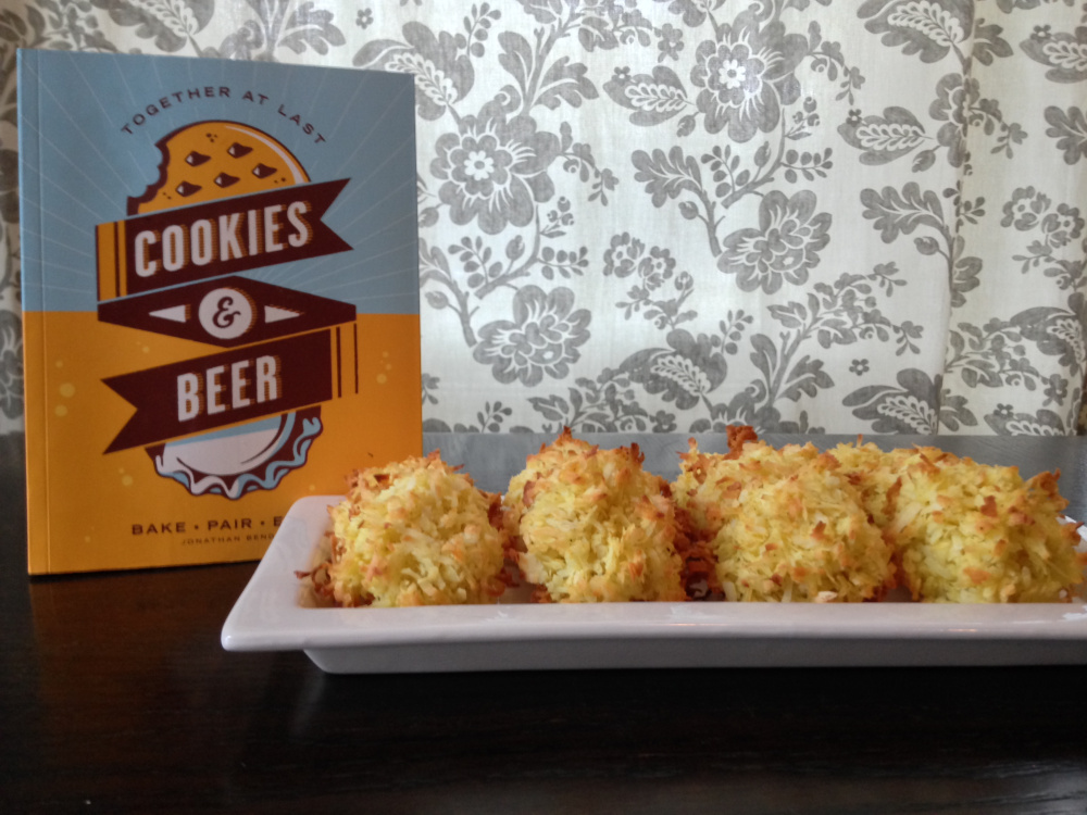 """These curry coconut macaroons were the favorite at a recent tasting party using recipes from """"Cookies & Beer.""""  Dave Patterson"""