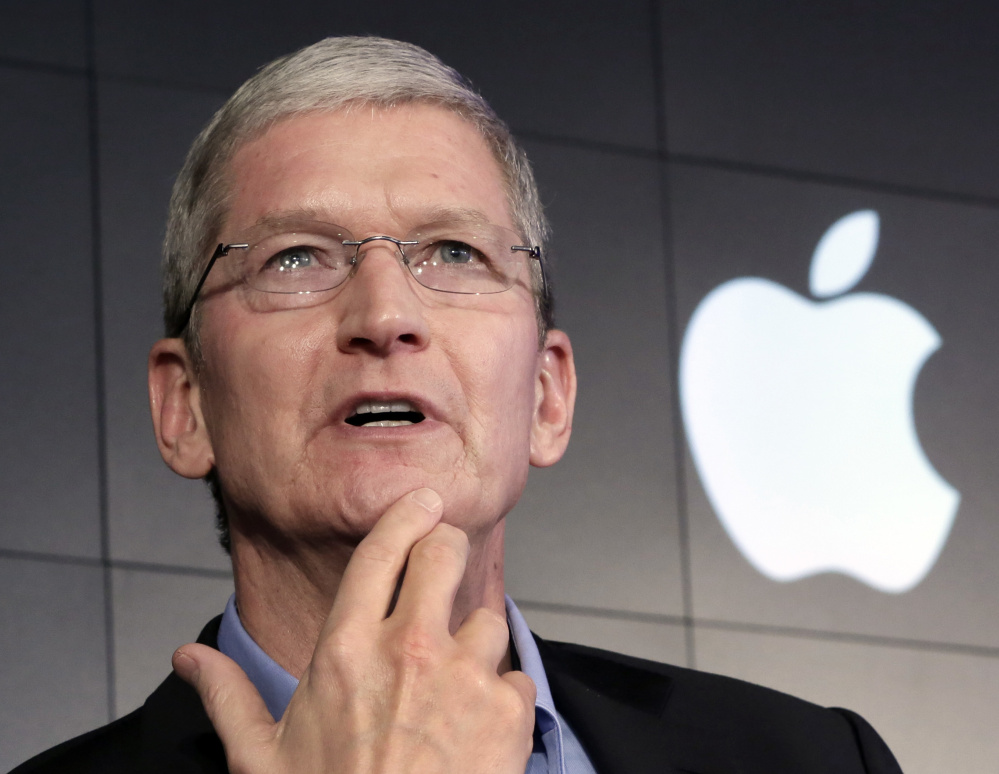 """Apple CEO Tim Cook said his company is fighting a federal court ruling requiring Apple to provide the FBI with a """"master key"""" to an encrypted smartphone used by a terrorist in the San Bernardino massacre late last year."""