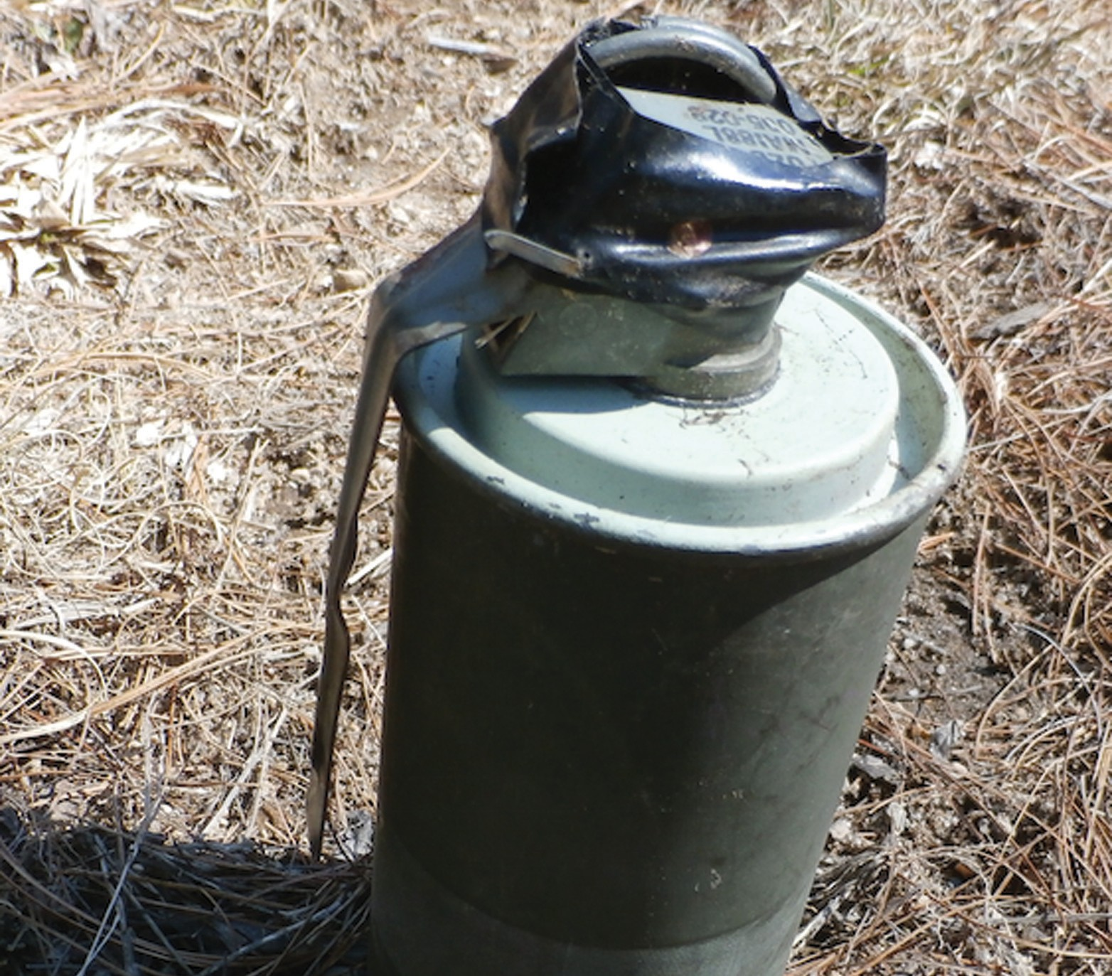 A smoke bomb was found in Limington on Saturday.