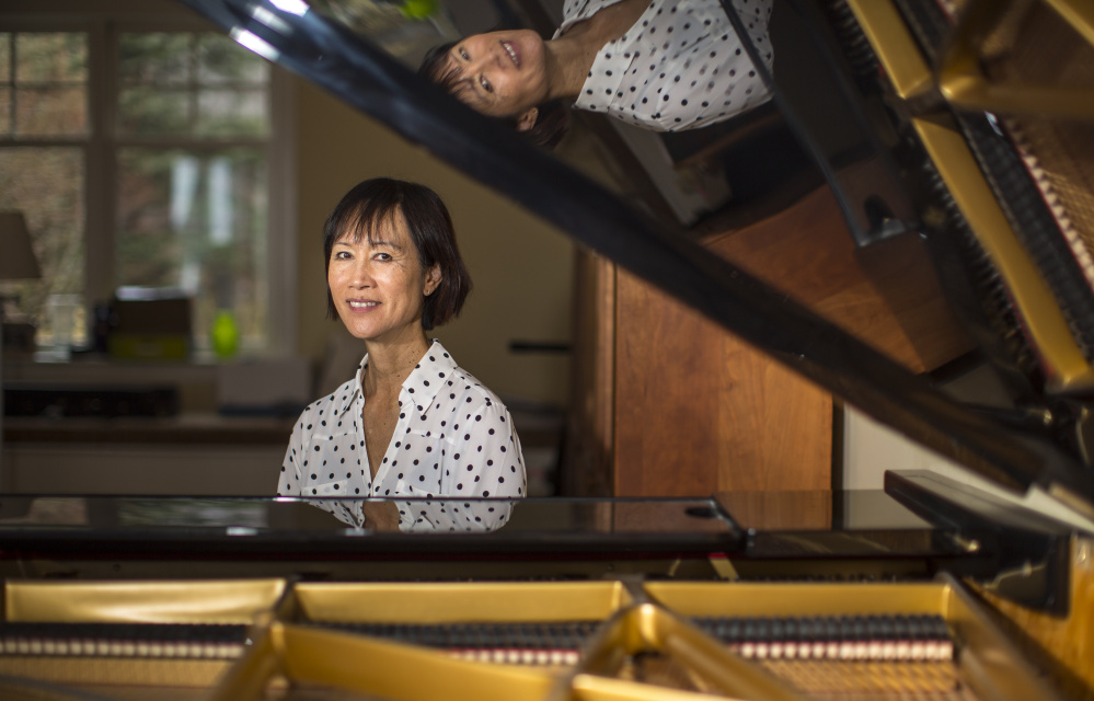 "Tess Gerritsen, who plays piano and violin, composed the song ""Incendio"" for her latest book, ""Playing with Fire,"" about a violinist who finds a mysterious piece of sheet music in Italy that she believes is imbued with mysterious powers."