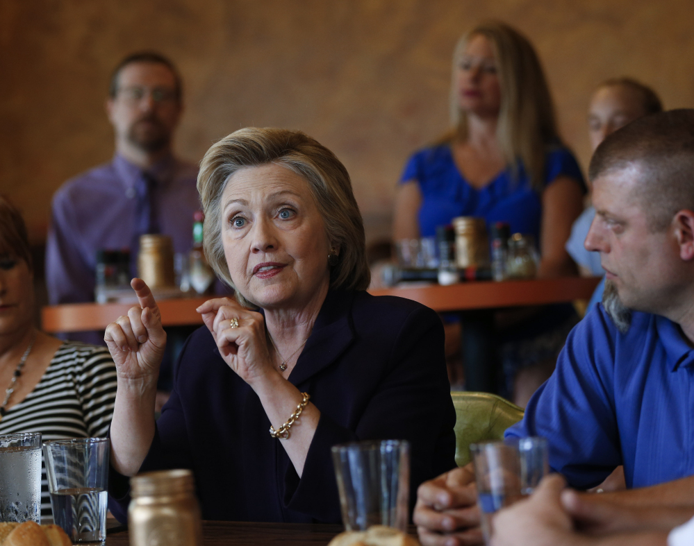 Hillary Clinton speaks to steelworkers in Ashland, Ky., on Monday. Political analysts say she's a battle-tested adversary who has survived sexist vitriol and hate for the better part of three decades and will not let Trump's attacks go unanswered.