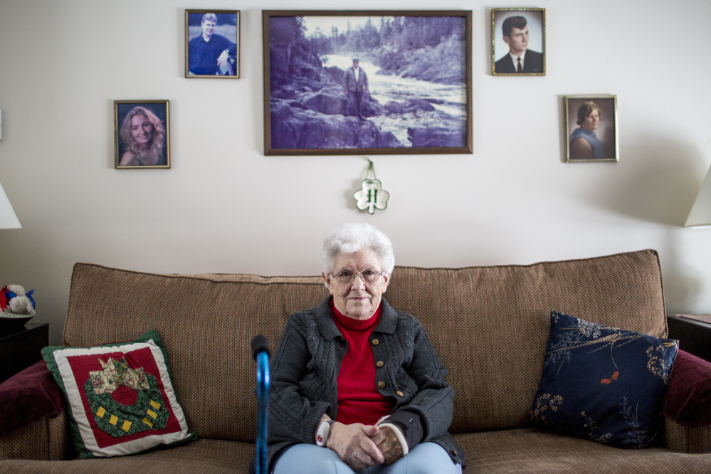 """Town matriarch Faye O'Leary Hafford, 91, says there was no need for the SWAT-style raid on Allagash in February 2014. """"That scared a lot of people, one car after another coming up the road,"""" she says. """"I wasn't upset that they were doing their job. What bothered me is the way they handled it."""""""