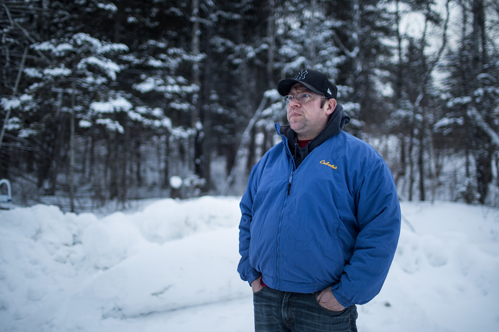 """Reid Caron, 36, above, became a target in the warden service investigation after allegedly bragging while he was drunk and stoned that he regularly poached deer and moose to feed himself. An undercover agent posing as a hunter persuaded Caron to go night poaching with him and provided the gun, ammunition and vehicle. Caron later pleaded guilty to 39 charges and spent 90 days in jail, but says, """"I wouldn't have been going out and doing this if he hadn't wanted to."""""""