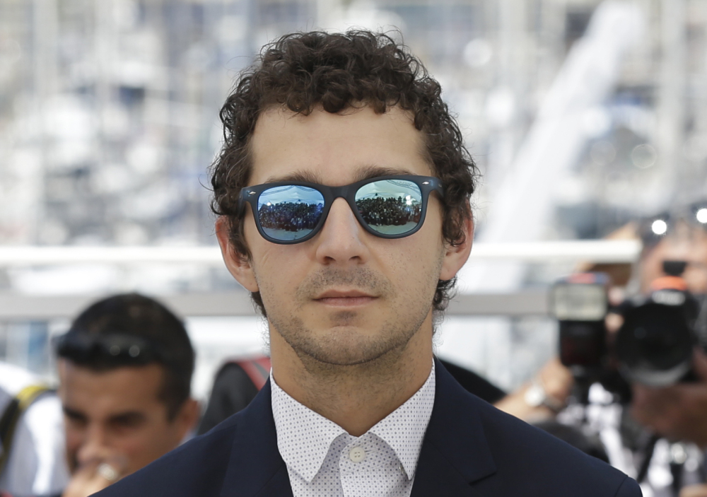 Actor Shia Labeouf poses for photographers during a photo call for the film 'American Honey' at the Cannes Film Festival in France on Sunday