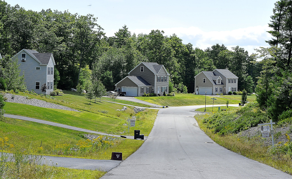 Many new homes have been built on Thrush Terrace in Windham, a southern Maine town that grew by 815 people from 2010 to 2015, the most in the state.