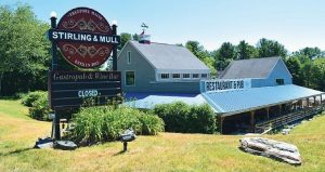 STIRLING AND MULL opened in July 2015 and closed its doors by winter. L.L. Bean has purchased the restaurant.