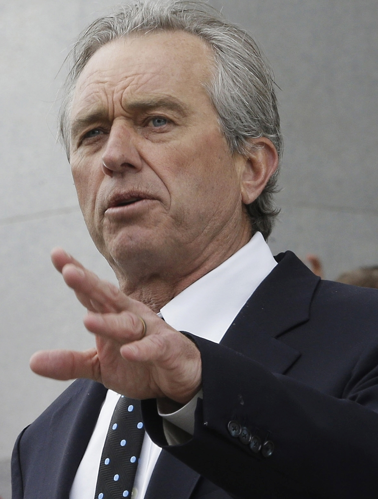 Robert Kennedy Jr., son of former U.S. Attorney General Robert Kennedy, argues in a new book that his cousin Michael Skakel is innocent of murdering his neighbor Martha Moxley in 1975 when they both were 15.