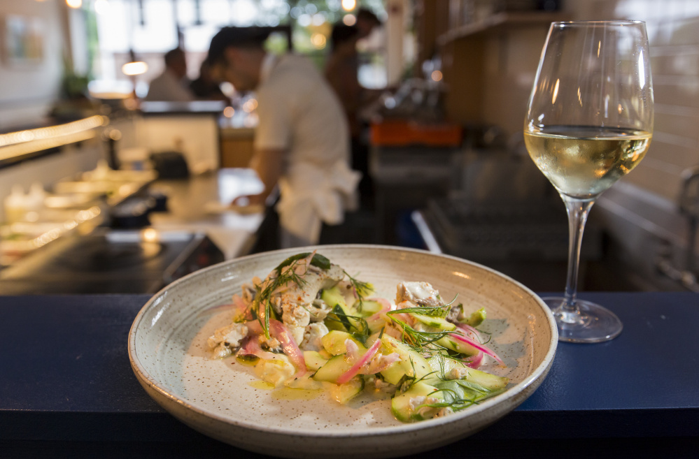 Marinated bluefish at Drifters Wife in Portland. It will move into a larger space on Washington Avenue in Portland.