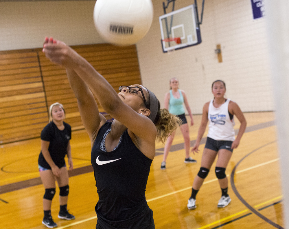 Junior Kristal Gonzalez and her Deering High teammates are part of the growth of high school volleyball in Maine. The Rams were one of four new programs in 2015, and this year there are six more new teams, with most competing in Class A.