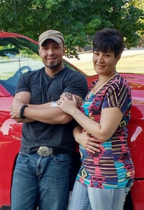 Valerie Tieman is seen with her husband, Luc Tieman, in this July photo provided by police.