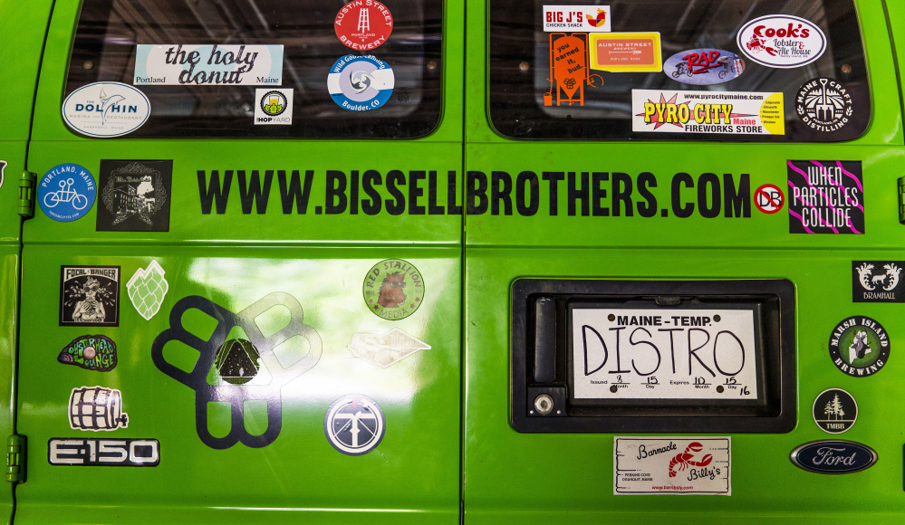 Josh Schlesinger delivers beer in the van he bought from Bissell Brothers.