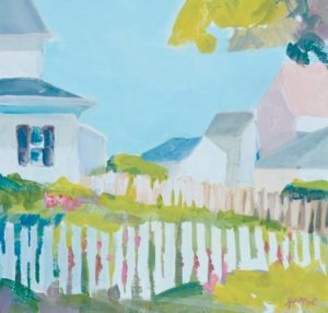 """""""PICKET FENCE,"""" by Jillian Herrigel, will be one of the works featured at the 10x10 silent auction."""