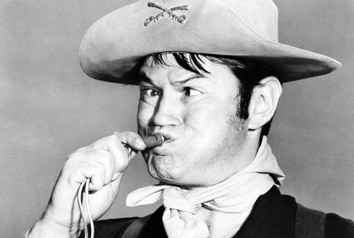 "Actor Larry Storch as Cpl. Randolph Agarn in a July 1, 1965, episode of ""F Troop."""