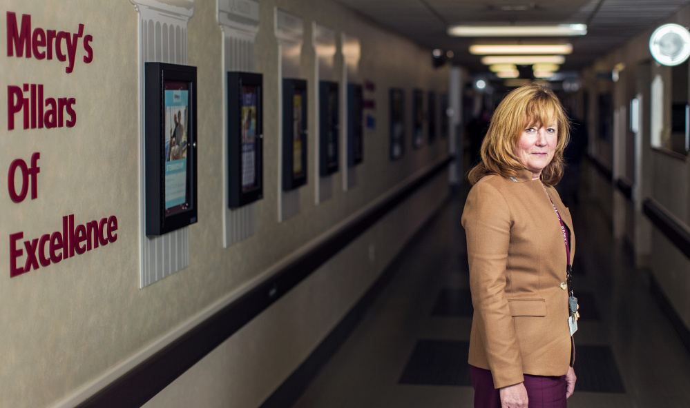 Melissa Skahan, a vice president at Mercy Hospital, has organized the effort to help Portland secure funding to expand resources for people battling opioid addiction.