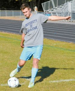 MT. ARARAT MIDFIELDER James Hutchinson leads the Eaglles against Bangor in a battle of top teams tonight in Topsham at 6:30 p.m.