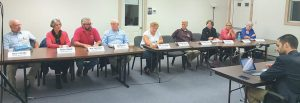 CANDIDATES for the state Legislature participate in a forum Thursday in Wiscasset.
