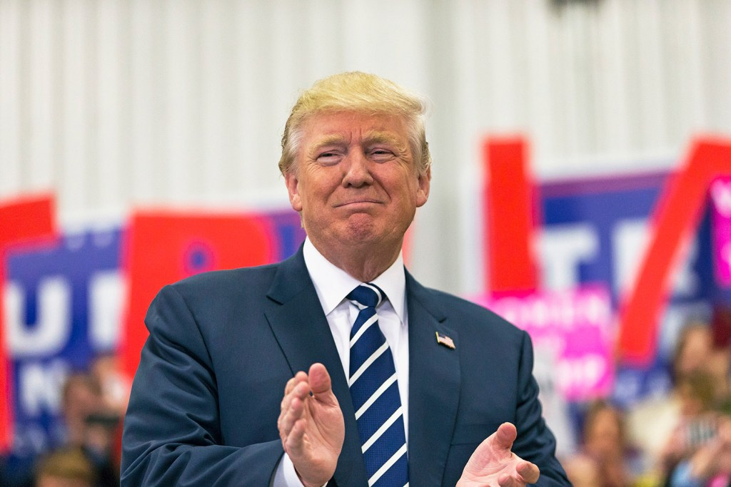 Donald Trump drew about 1,200 supporters for a rally at Open Door Christian Academy in Lisbon just 11 days before the election, in his fifth campaign trip to Maine.