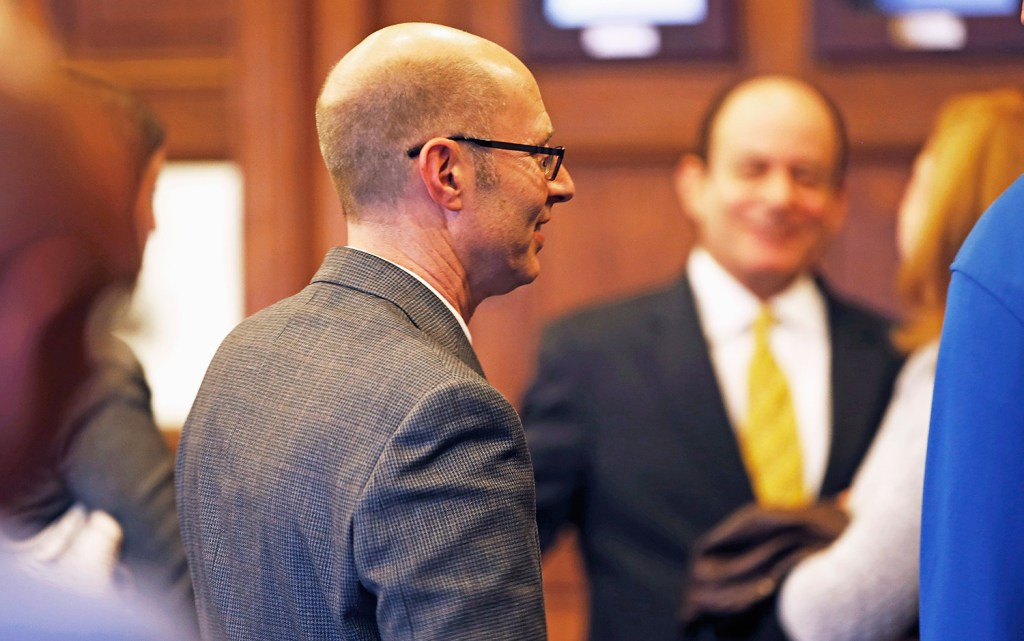 Gregory Nisbet smiles Friday after being found not guilty on six counts of manslaughter related to the fire on Nov. 1, 2014, that killed six people.